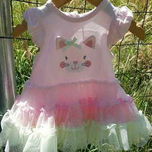 Kitty cat tutu dress